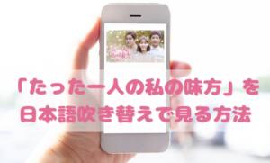 たった一人の私の味方を日本語吹き替えで見るなら?無料動画やDVDをチェック