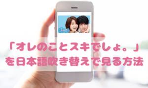 オレのことスキでしょを日本語吹き替えで見るなら?無料動画やDVDをチェック