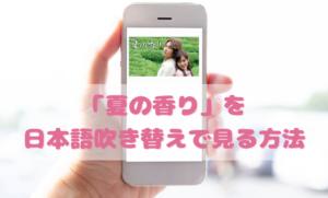 夏の香りを日本語吹き替えで見るなら?無料動画やDVDをチェック
