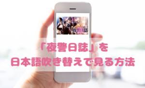 夜警日誌を日本語吹き替えで見るなら?無料動画やDVDをチェック