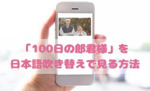 100日の郎君様を日本語吹き替えで見るなら?無料動画やDVDをチェック
