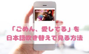 ごめん愛してるを日本語吹き替えで見るなら?無料動画やDVDをチェック