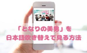 となりの美男<イケメン>を日本語吹き替えで見るなら?無料動画やDVDをチェック