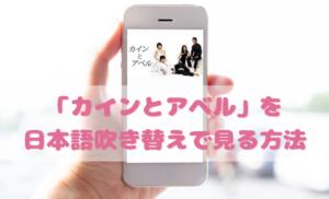 カインとアベルを日本語吹き替えで見るなら?無料動画やDVDをチェック