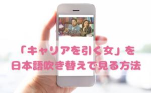 キャリアを引く女を日本語吹き替えで見るなら?無料動画やDVDをチェック