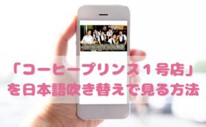 コーヒープリンス1号店を日本語吹き替えで見るなら?無料動画やDVDをチェック