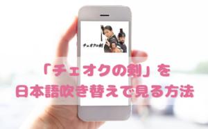 チェオクの剣を日本語吹き替えで見るなら?無料動画やDVDをチェック