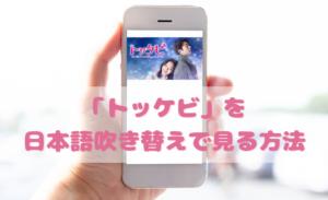 トッケビを日本語吹き替えで見るなら?無料動画やDVDをチェック