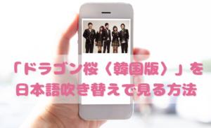 ドラゴン桜(韓国ドラマ)を日本語吹き替えで見るなら?無料動画やDVDをチェック