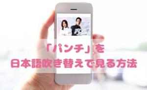 パンチを日本語吹き替えで見るなら?無料動画やDVDをチェック