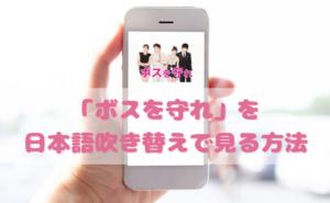 ボスを守れを日本語吹き替えで見るなら?無料動画やDVDをチェック