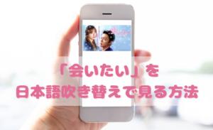 会いたいを日本語吹き替えで見るなら?無料動画やDVDをチェック