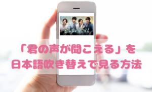 君の声が聞こえるを日本語吹き替えで見るなら?無料動画やDVDをチェック