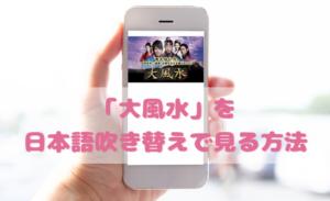 大風水を日本語吹き替えで見るなら?無料動画やDVDをチェック