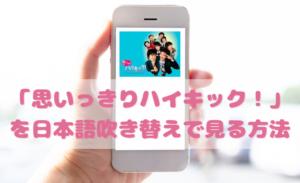 思いっきりハイキックを日本語吹き替えで見るなら?無料動画やDVDをチェック