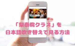梨泰院クラスの日本語吹き替え動画の視聴方法!Netflix以外の無料動画やDVDもチェック
