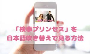 検事プリンセスを日本語吹き替えで見るなら?無料動画やDVDをチェック