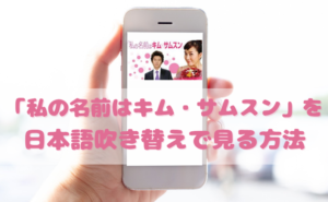 私の名前はキムサムスンを日本語吹き替えで見るなら?無料動画やDVDをチェック