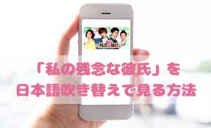 私の残念な彼氏を日本語吹き替えで見るなら?無料動画やDVDをチェック