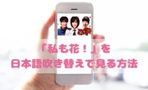 私も花を日本語吹き替えで見るなら?無料動画やDVDをチェック