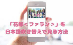 花郎<ファラン>を日本語吹き替えで見るなら?無料動画やDVDをチェック