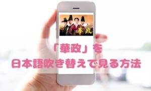 華政(ファジョン)を日本語吹き替えで見るなら?無料動画やDVDをチェック